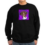 German Shorthair Pointer Head Sweatshirt (dark)