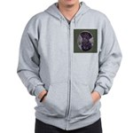 Flat Coated Retriever Zip Hoodie