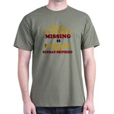 Wife & German Shepherd Missing T-Shirt