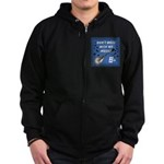 DON'T MESS WITH MY MUSIC Zip Hoodie (dark)