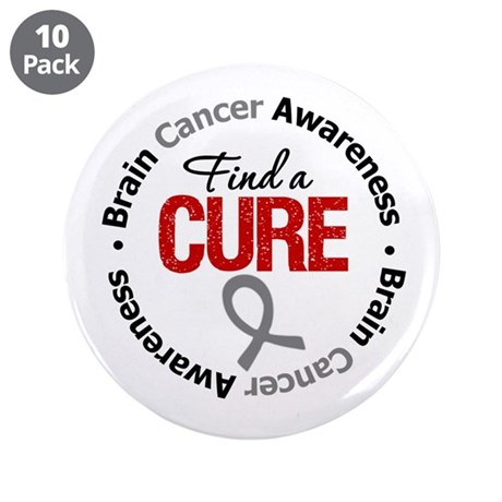 "BrainCancerCure 3.5"" Button (10 pack)"