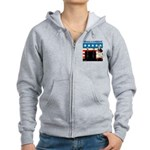 Whack A Candidate Women's Zip Hoodie