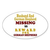 Husband & German Shepherd Missing Oval Decal