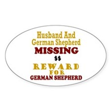 Husband & German Shepherd Missing Decal