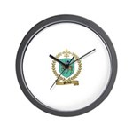 PERRAULT Family Crest Wall Clock