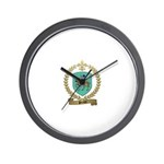 PERAUD Family Crest Wall Clock