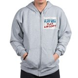 Remix Airsoft Slogan Zip Hoodie