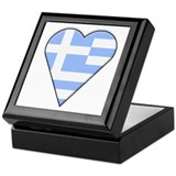 Greek Heart-Shaped Flag Keepsake Box