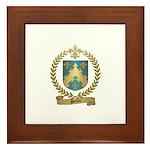 PELTIER Family Crest Framed Tile