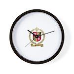 PELLETRET Family Crest Wall Clock