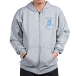 Mom has wheels! Zip Hoodie