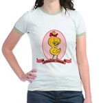 Albanian Chick Jr. Ringer T-Shirt