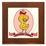 Albanian Chick Framed Tile