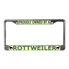 Proudly Owned Rottweiler License Plate Frame