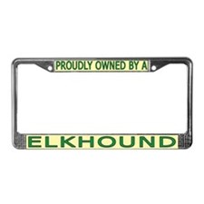Proudly Owned Elkhound License Plate Frame