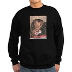 TASTY Chocolate Lab dog gift Sweatshirt (dark)