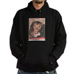 TASTY Chocolate Lab dog gift Hoodie (dark)
