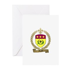 MIGNOT Family Crest Greeting Cards (Pk of 10)