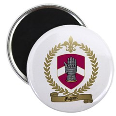MIGNIER Family Crest 2.25&quot; Magnet (10 pack)