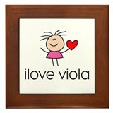 I Heart Viola Framed Tile