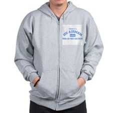 Proud Air Force Girlfriend Zip Hoodie