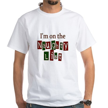 Naughty List White T-Shirt