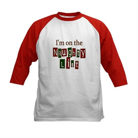 Naughty List Kids Baseball Jersey