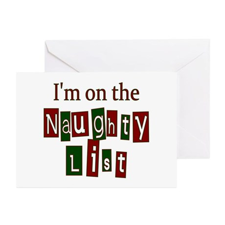 Naughty List Greeting Cards (Pk of 20)