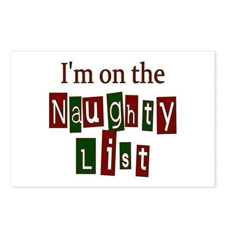 Naughty List Postcards (Package of 8)