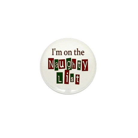 Naughty List Mini Button