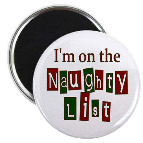 "Naughty List 2.25"" Magnet (10 pack)"