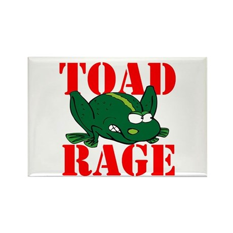 TOAD RAGE Rectangle Magnet (10 pack)