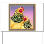 Buff Brahma Chickens Yard Sign