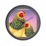 Buff Brahma Chickens Wall Clock