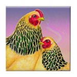Buff Brahma Chickens Tile Coaster