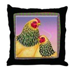 Buff Brahma Chickens Throw Pillow