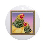 Buff Brahma Chickens Ornament (Round)