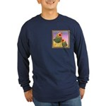 Buff Brahma Chickens Long Sleeve Dark T-Shirt