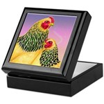 Buff Brahma Chickens Keepsake Box