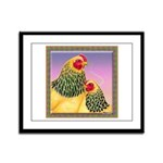 Buff Brahma Chickens Framed Panel Print