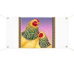 Buff Brahma Chickens Banner