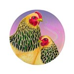 "Buff Brahma Chickens 3.5"" Button (100 pack)"