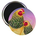 "Buff Brahma Chickens 2.25"" Magnet (10 pack)"