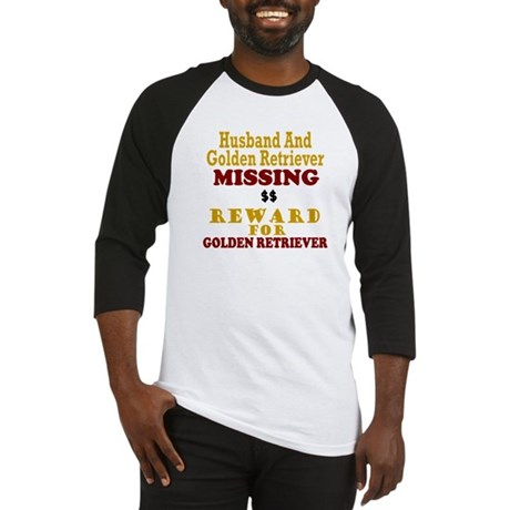 Husband & Golden Retriever Missing Baseball Jersey