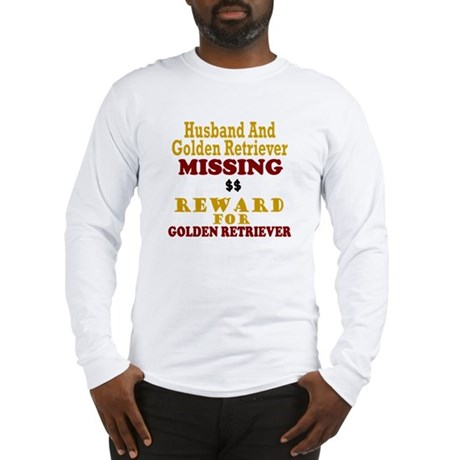 Husband & Golden Retriever Missing Long Sleeve T-S
