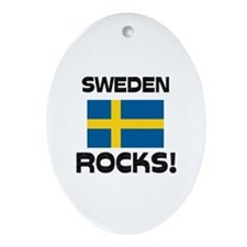 Sweden Rocks! Oval Ornament