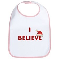 Cute I believe in santa Bib