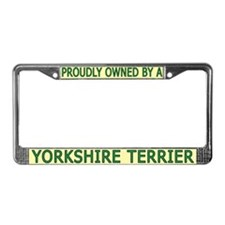 Proudly Owned Yorkie License Plate Frame