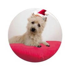 cairn terrier pup christmas ornament