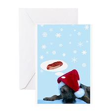 Doggie Christmas Daydreams C Greeting Card